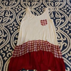 Boutique gingham tunic